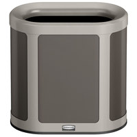 Rubbermaid 1970033 Enhance 7 Gallon Umbra Gray Pill Trash Can with Pearl Mouse Gray Frame