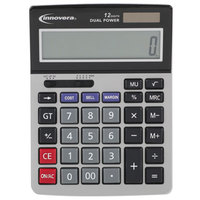 Innovera 15968 5 inch x 7 inch 12-Digit LCD Solar / Battery Powered Minidesk Calculator