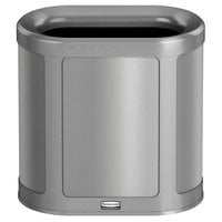 Rubbermaid 1970035 Enhance 7 Gallon Brushed Stainless Pill Trash Can with Stardust Silver Frame