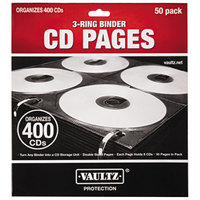 Vaultz VZ01415 Two-Sided CD Refill Page for Three-Ring Binders - 50/Pack