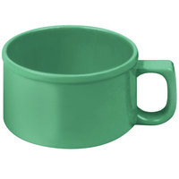 Thunder Group CR9016GR 10 oz. Green Melamine Soup Mug with Handle - 12/Pack