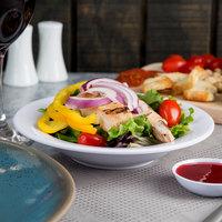 Thunder Group CR5077W 8 oz. White Wide Rim Melamine Salad Bowl - 12/Pack