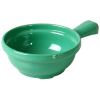 Thunder Group CR305GR 10 oz. Green Melamine Soup Bowl with Handle - 12/Pack