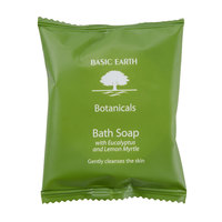Basic Earth Botanicals Hotel and Motel Wrapped Bath Soap 1.41 oz. Bar - 300/Case
