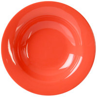 Thunder Group CR5077RD 8 oz. Orange Wide Rim Melamine Salad Bowl - 12/Pack