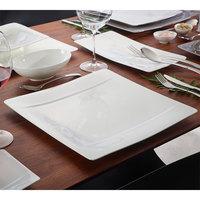 Villeroy & Boch 10-4510-2680 Modern Grace 13 3/4 inch x 13 3/4 inch White Bone Porcelain Buffet Plate - 6/Pack