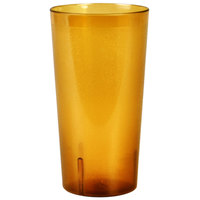32 oz. Amber Tall Plastic Tumbler - 12/Pack