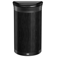 Rubbermaid 1970086 Enhance 7.5 Gallon Ebony Half Round Trash Can with Jet Black Frame