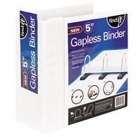 find It SNS01705 White View Binder with 5 inch Gapless Loop Rings