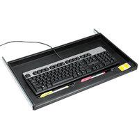 Innovera 53010 21 3/8 inch x 12 7/8 inch Black Standard Underdesk Keyboard Drawer