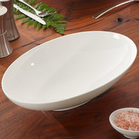 Villeroy & Boch 10-4510-3288 Modern Grace 44 oz. White Bone Porcelain Oval Bowl - 6/Pack