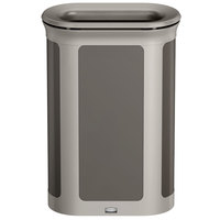 Rubbermaid 1970122 Enhance 13 Gallon Umbra Gray Pill Trash Can with Pearl Mouse Gray Frame