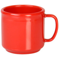 Thunder Group CR9035PR 10 oz. Pure Red Melamine Mug   - 12/Pack