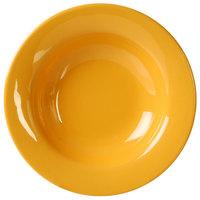 Thunder Group CR5077YW 8 oz. Yellow Wide Rim Melamine Salad Bowl - 12/Pack