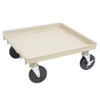 Vollrath 1697-32-LC2 Traex Recycled Beige Rack Dolly Base (No Handle) - 21 inch x 21 inch