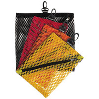 Vaultz VZ01211 Assorted Color Mesh Cord Storage Bag   - 4/Pack
