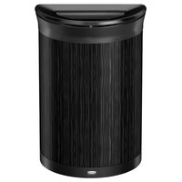 Rubbermaid 1970119 Enhance 11.5 Gallon Ebony Half Round Trash Can with Jet Black Frame