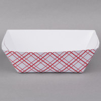 10 lb. Red Check Paper Food Tray - 250/Case