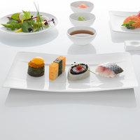 Villeroy & Boch 10-4510-2772 Modern Grace 9 1/2 inch x 5 1/2 inch White Bone Porcelain Sushi Plate - 6/Case