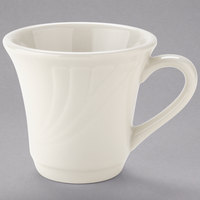 Tuxton YEF-070 Monterey 6 oz. Eggshell Embossed Rim China Tall Cup - 36/Case