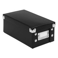 Snap-N-Store SNS01573 5 3/8 inch x 9 inch x 3 1/4 inch Black Collapsible Index Cad File Box with Lid
