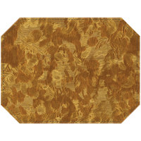 H. Risch Inc. Brushed Metallic 12 inch x 16 inch Fool's Gold Premium Sewn Octagon Placemat