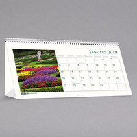 House of Doolittle 309 8 1/2 inch x 4 1/2 inch Recycled Garden Photos Monthly January 2019 - December 2019 Desk Tent Calendar