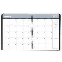 House of Doolittle 26802 6 7/8 inch x 8 3/4 inch Recycled Black Ruled 14-Month Monthly December 2018 - January 2020 Appointment Book