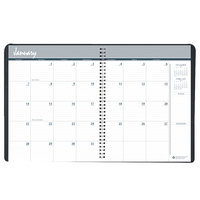House of Doolittle 26802 6 7/8 inch x 8 3/4 inch Recycled Black Ruled 14-Month Monthly December 2019 - January 2021 Appointment Book