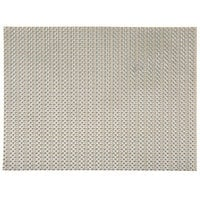 H. Risch, Inc. 12 inch x 16 inch Metallic Taupe / Silver Vinyl Rectangle Placemat - 12/Pack