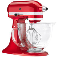 KitchenAid KSM155GBCA Candy Apple Red Premium Metallic Series 5 Qt. Countertop Mixer