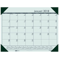 House of Doolittle 12471 Recycled Eco Tones 22 inch x 17 inch Woodland Green Monthly January 2019 - December 2019 Desk Pad Calendar