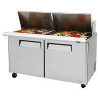 Turbo Air MST-60-24 60 inch 2 Door Mega Top Refrigerated Sandwich Prep Table