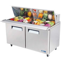 Turbo Air MST-60-24 60 inch M3 Series Mega Top Two Door Refrigerated Salad / Sandwich Prep Table
