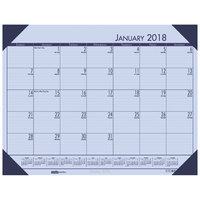 House of Doolittle 12473 Recycled Eco Tones 22 inch x 17 inch Sunset Orchid Monthly January 2019 - December 2019 Desk Pad Calendar