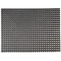 H. Risch, Inc. 12 inch x 16 inch Black / Pewter Vinyl Rectangle Placemat - 12/Pack