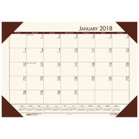 House of Doolittle 12441 Recycled Eco Tones 22 inch x 17 inch Moonlight Cream Monthly January 2019 - December 2019 Desk Pad Calendar
