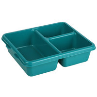 Cambro 9113CP414 9 inch x 11 inch Teal 3 Compartment Meal Delivery Tray - 24/Case