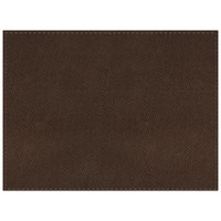 H. Risch Inc. Hampton 12 inch x 16 inch Chocolate Premium Sewn Rectangle Placemat