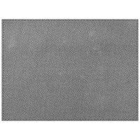 H. Risch Inc. Hampton 12 inch x 16 inch Silver Premium Sewn Rectangle Placemat