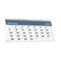 House of Doolittle 3679 Bar Harbor 7 inch x 4 1/4 inch Recycled Monthly January 2019 - December 2019 Desk Tent Calendar