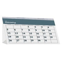 House of Doolittle 3679 Bar Harbor 7 inch x 4 1/4 inch Recycled Monthly January 2020 - December 2020 Desk Tent Calendar