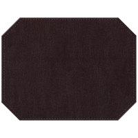H. Risch Inc. PLACEMATDXOCT-IRIAUBERGINE Iridescent 16 inch x 12 inch Aubergine Premium Sewn Faux Leather Octagon Placemat