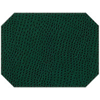 H. Risch Inc. Chesterfield 12 inch x 16 inch Green Premium Sewn Octagon Placemat