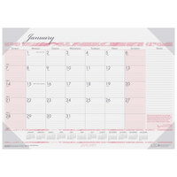 House of Doolittle 1466 18 1/2 inch x 13 inch Recycled Breast Cancer Awareness Monthly January 2020 - December 2020 Desk Pad Calendar