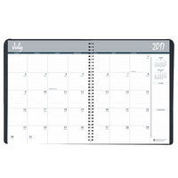 House of Doolittle 26502 8 1/2 inch x 11 inch Recycled Black Academic Ruled 14-Month Monthly July 2018 - August 2019 Appointment Book