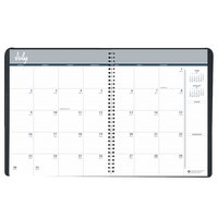 House of Doolittle 26502 8 1/2 inch x 11 inch Recycled Black Academic Ruled 14-Month Monthly July 2019 - August 2020 Appointment Book