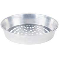 American Metalcraft SPA90102 10 inch x 2 inch Super Perforated Standard Weight Aluminum Tapered / Nesting Pizza Pan