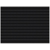 H. Risch, Inc. 12 inch x 16 inch Black / White Vinyl Rectangle Placemat - 12/Pack
