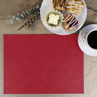 H. Risch Inc. Harley 12 inch x 16 inch Red Premium Sewn Rectangle Placemat